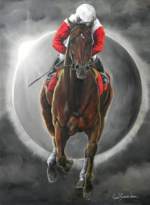 painting of a horse called Orb