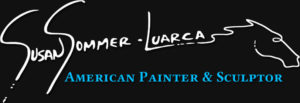 Susan Sommer Luarca's black white and blue logo.