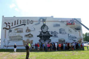 Susan Signing Hometown Billings Missouri Mural