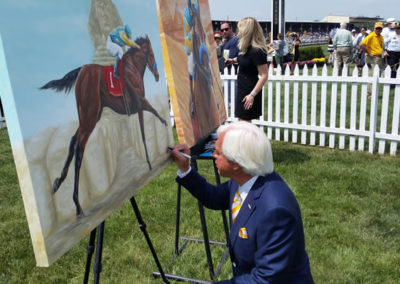 Bob Baffert Signing the Susan's Official American Pharoah Painting