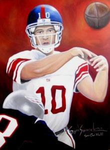 Painting of Eli Manning