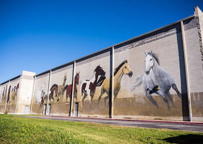 Giant Horse Mural at Campbell 16 Theater in Springfield Missouri