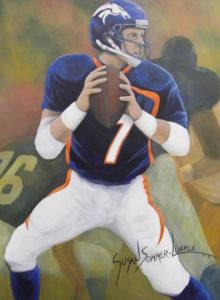 Painting of John Elway