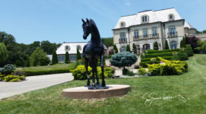 """Life Sized Statue of a Horse """"Lucky's Pearl"""""""