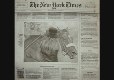 New York Times Featuring Susan Painting Barbaro LIVE at the Kentucky Derby