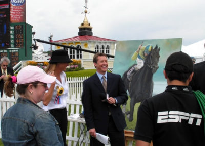 Official Artist Susan ESPN Interview LIVE at the Preakness Stakes