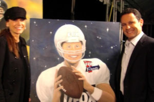 SUSAN AND BRIAN KILMEADE ON set at Super Bowl XVI