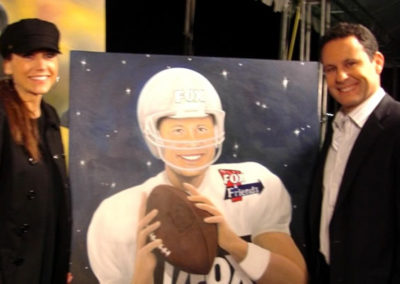 SUSAN AND BRIAN KILMEADE ON set at Super Bowl XLII
