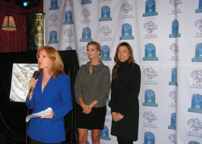 SUSAN PREPARING TO UNVEIL HER OFFICIAL 2008 BREEDERS CUP WORLD CHAMPIONSHIP PAINTING IN NYC WITH IVANKA TRUMP AND LIZ CAIBORNE OFFICIATING