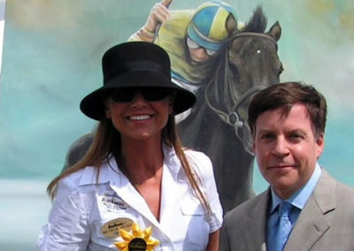 Susan and Bob Costas at the Preakness Stakes 2007