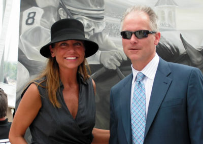Susan and Kenny Mayne of ESPN at the Kentucky Derby 2007