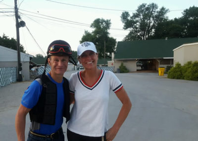 Susan and her Hall-of-Fame Jockey, Calvin Borel
