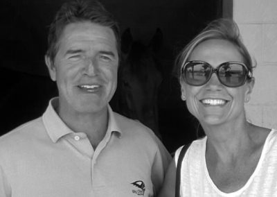 Susan and her race horse trainer Keith Desormeaux
