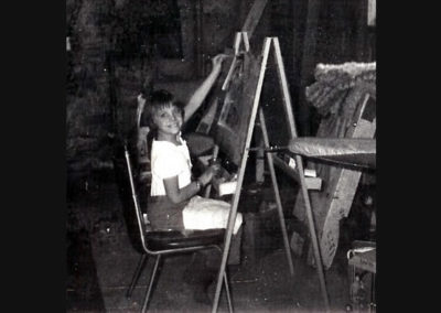 Susan as a Young Girl Painting