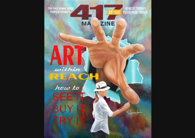 Susan hand painted the entire cover of 417 Magazine