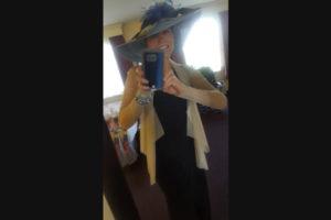 Susan selfie before the Kentucky Oaks