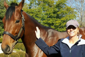 Susan visiting American Pharoah at Coolmore America