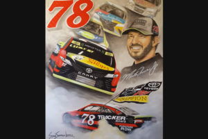 Susan's painting of Martin Truex Championship NASCAR