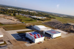 Photo Taken from the helicopter ride at the unveiling of GIANT USA MURAL