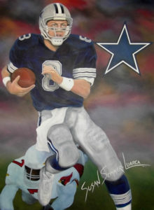 painting of Troy Aikman