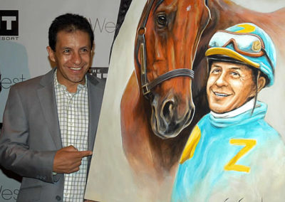Victor Espinoza Unveils Portrait of Him and American Pharoah by Susan