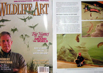 Wildlife Art Magazine Featuring Susan and One of Her Many Bass Pro Shops Murals