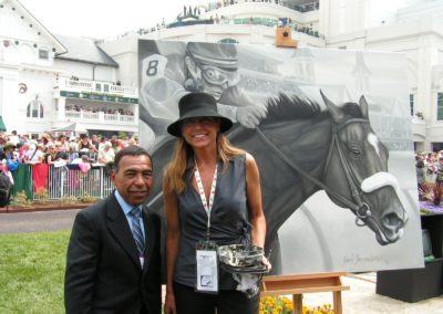 SUSAN AND ANGEL CORDERO KENTUCKY DERBY